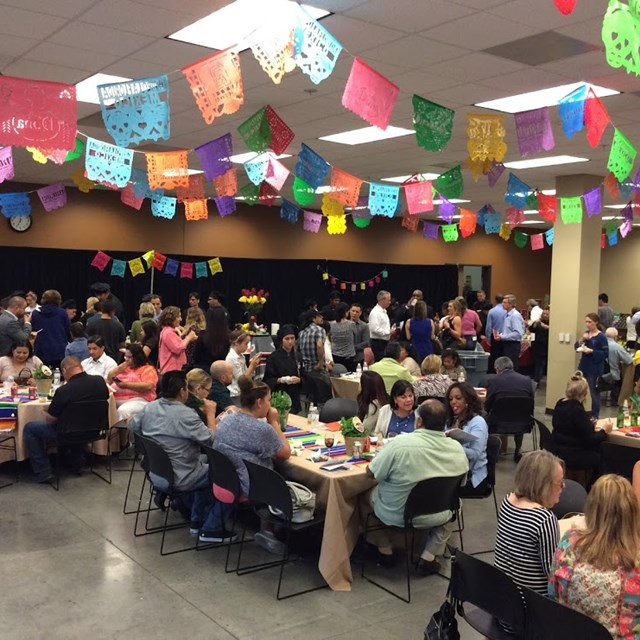 The Cooking up a Change fiesta brings friends and family together for a fun night!