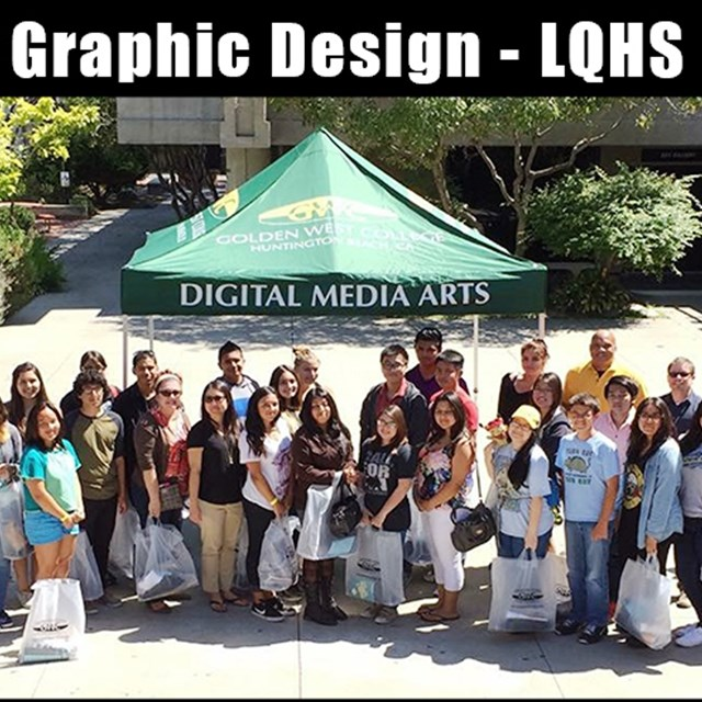 La Quinta High School's ROP Graphic Design Team at Golden West College perfectly executes their group project!